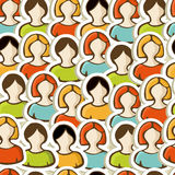 Diversity people pattern background Royalty Free Stock Photography