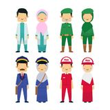 Vector illustration of working people diversity with white background. stock illustration