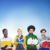 Diversity People Reading Book Inspiration Concept Royalty Free Stock Image