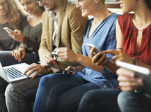 Diversity People Team Connection Technology Networking Concept Stock Image