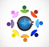 Diversity people and time concept illustration Stock Image