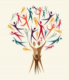 Diversity people tree set Stock Photography