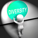 Diversity Pressed Means Variety Difference Or Multi-Cultural. Diversity Pressed Meaning Variety Difference Or Multi-Cultural Royalty Free Stock Images