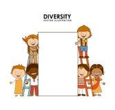 Diversity of races Royalty Free Stock Photo