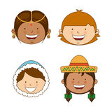 Diversity of races Royalty Free Stock Image
