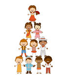 Diversity of races. Over white  background vector illustration Royalty Free Stock Photo