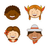 Diversity of races Royalty Free Stock Photos