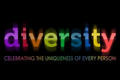Diversity in rainbow colors Stock Photos