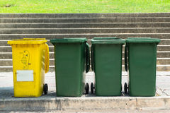 Diversity of recycle bin Royalty Free Stock Photo