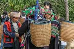 Diversity in Sapa groups, north of Vietnam Stock Photos