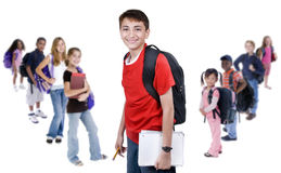Diversity in School. A group young school kids. diveristy in education Royalty Free Stock Photos