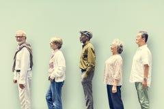 Diversity Senior People Friends Lifestyle Concept.  Stock Photo