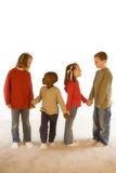 Diversity Series. Four children playing together Stock Image