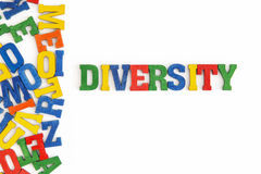 Diversity. Series Conceptual words: word Diversity in wooden letters on white background Royalty Free Stock Photos