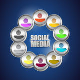 Diversity social media concept illustration. Stock Photography
