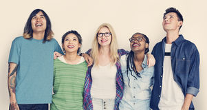 Diversity Students Friends Happiness Concept Stock Photo