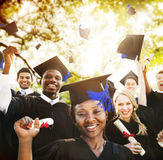 Diversity Students Graduation Success Celebration Concept Royalty Free Stock Images