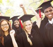 Diversity Students Graduation Success Celebration Concept Stock Images