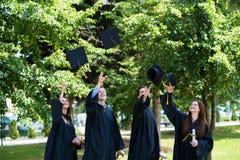 Diversity Students Graduation Success Celebration ConceptGradu royalty free stock photo
