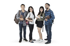 Diversity students standing in the studio Royalty Free Stock Photography