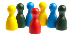 Diversity team concept, pawn figures Royalty Free Stock Photos