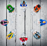 Diversity Teamwork Communication Digital Networking Concept Stock Images