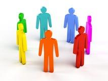 Diversity, teamwork, social network concept Stock Image