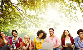 Diversity Teenagers Friends Friendship Team Concept royalty free stock photos