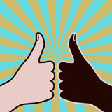 Diversity thumbs-up Stock Image