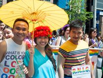 Diversity in Toronto Pride Parade 2013 Stock Photography