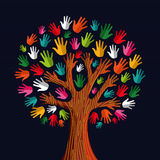 Diversity tree hands royalty free illustration