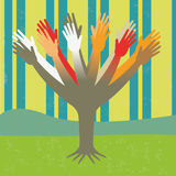 Diversity tree hands Royalty Free Stock Photo