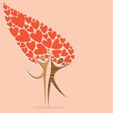 Diversity tree of love Royalty Free Stock Images