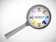 Diversity under review. illustration design Royalty Free Stock Photos