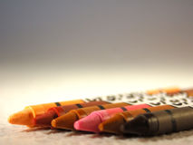 Diversity Wax. Human skin tones portrayed with wax crayons Royalty Free Stock Images