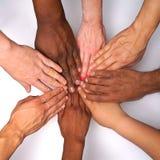 Diversity women`s empowerment hands of color