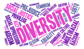Diversity Word Cloud. On a white background vector illustration