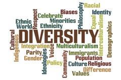 Diversity Word Cloud royalty free stock image