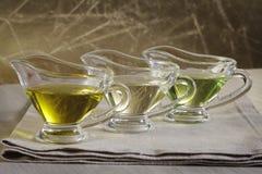 Diverso aceite vegetal Fotos de archivo