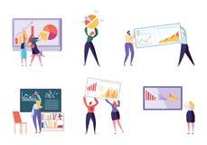 Diverso analista Set del negocio de carácter Gente libre illustration