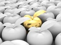 Diverso Apple de oro hacia fuera de otros blancos ilustración del vector