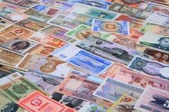 diverso backround de los billetes de banco del dinero imagen de archivo
