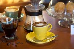 Diverso café en cafés foto de archivo