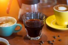 Diverso café en cafés imagen de archivo libre de regalías