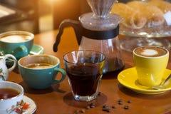 Diverso café en cafés fotos de archivo