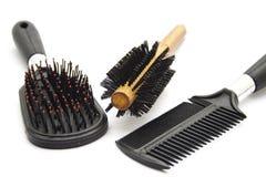 Diverso cepillo para el pelo Fotos de archivo