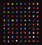 Diverso clip art de los iconos del web del color Imagen de archivo