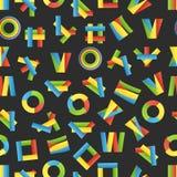 Diverso color abstracto etiqueta el fondo inconsútil Foto de archivo