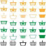 Diverso color de la cesta - iconos determinados Foto de archivo