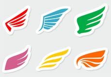 Diverso color de las etiquetas engomadas de las alas Imagen de archivo libre de regalías